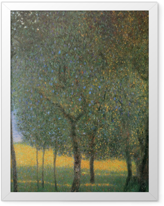 Gerahmtes Poster Gustav Klimt - Obstbäume am Attersee - Reproduktion