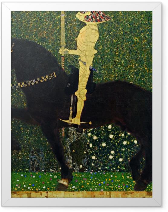 Plakat w ramie Gustav Klimt - Życie jest walką. Złoty rycerz. - Reprodukcje