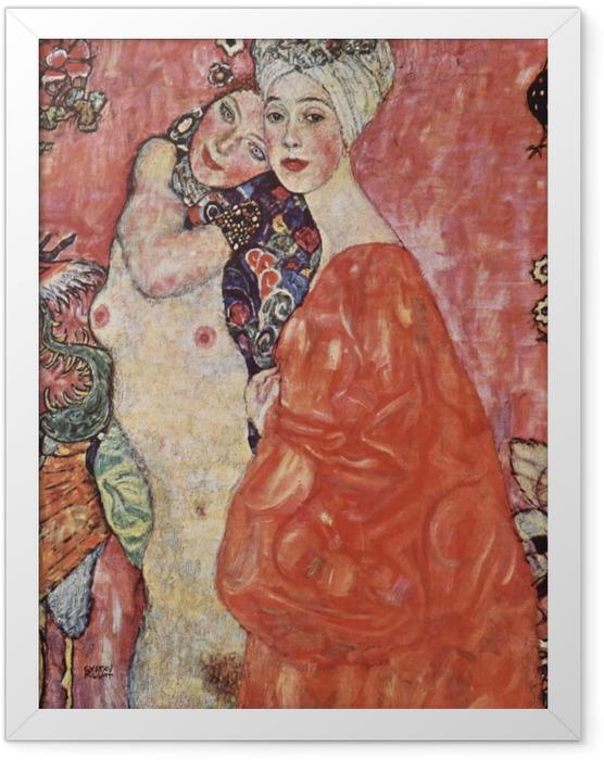 Poster en cadre Gustav Klimt - Les Amies - Reproductions