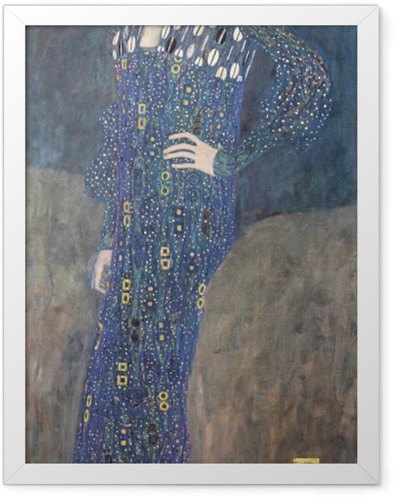 Poster en cadre Gustav Klimt - Portrait d'Emilie Flöge - Reproductions