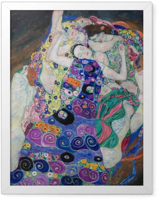 Gerahmtes Poster Gustav Klimt - Die Jungfrau - Reproduktion