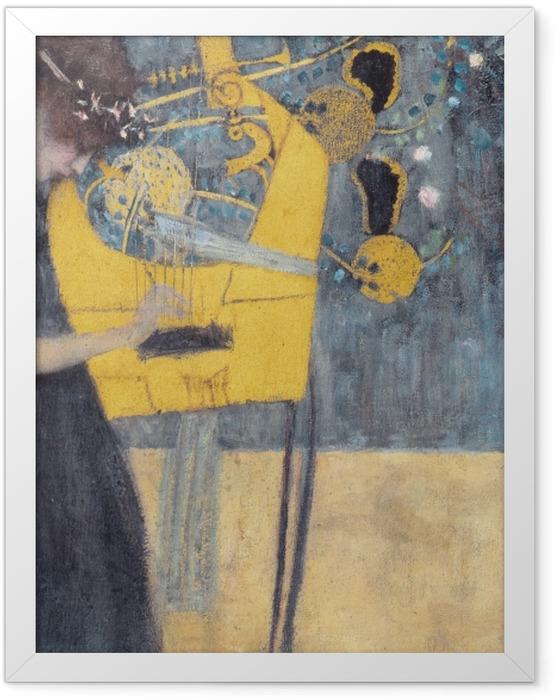 Plakat w ramie Gustav Klimt - Muzyka - Reprodukcje