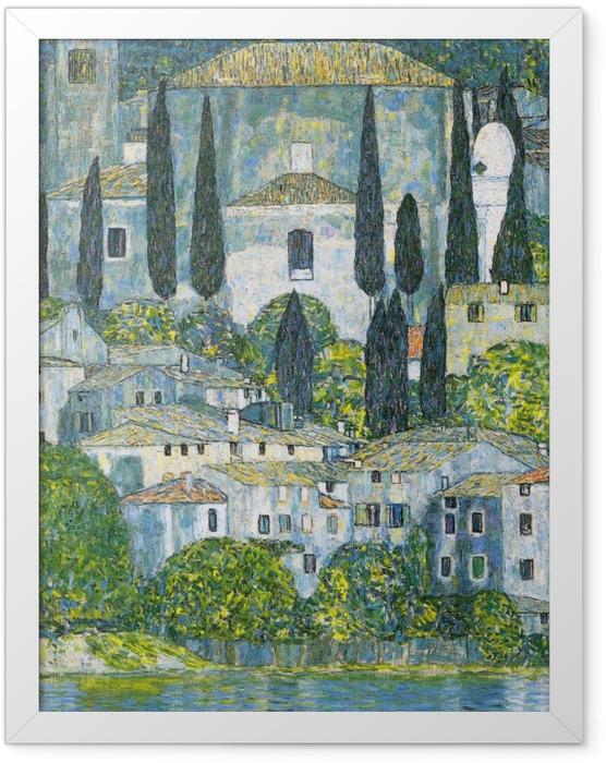 Gerahmtes Poster Gustav Klimt - Kirche in Cassone - Reproduktion