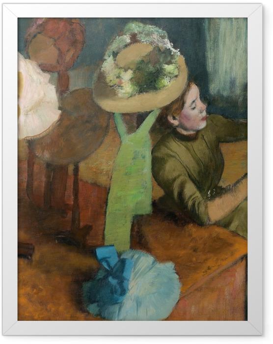 Plakat w ramie Edgar Degas - Sklep z kapeluszami - Reprodukcje