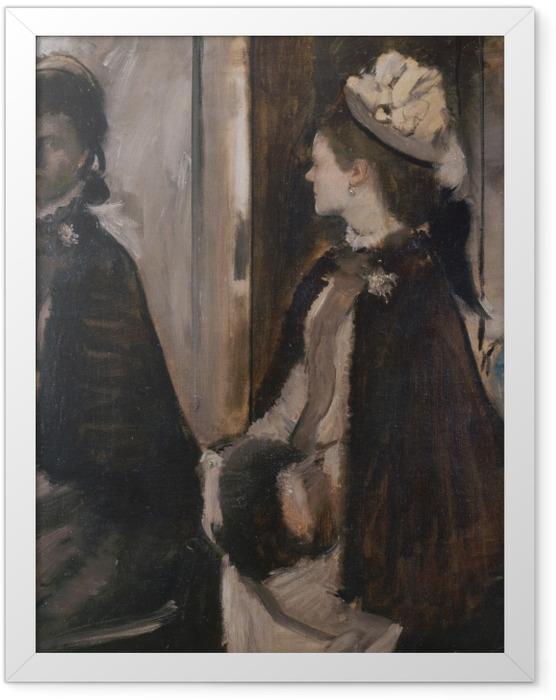 Gerahmtes Poster Edgar Degas - Madame Jeantaud vor dem Spiegel - Reproduktion