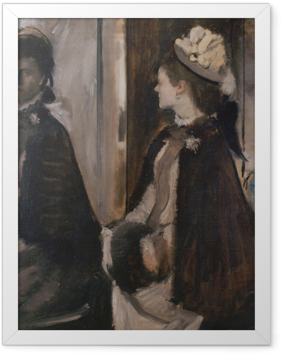 Plakat w ramie Edgar Degas - Madame Jeantaud w lustrze - Reprodukcje