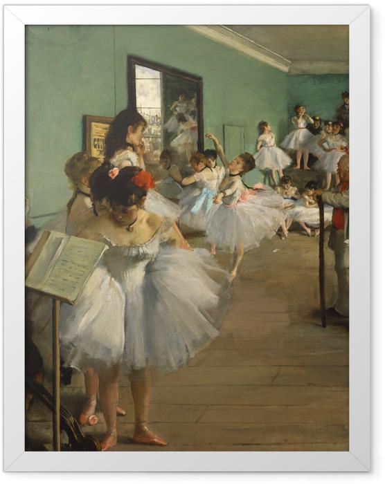 Plakat w ramie Edgar Degas - Lekcja tańca - Reprodukcje