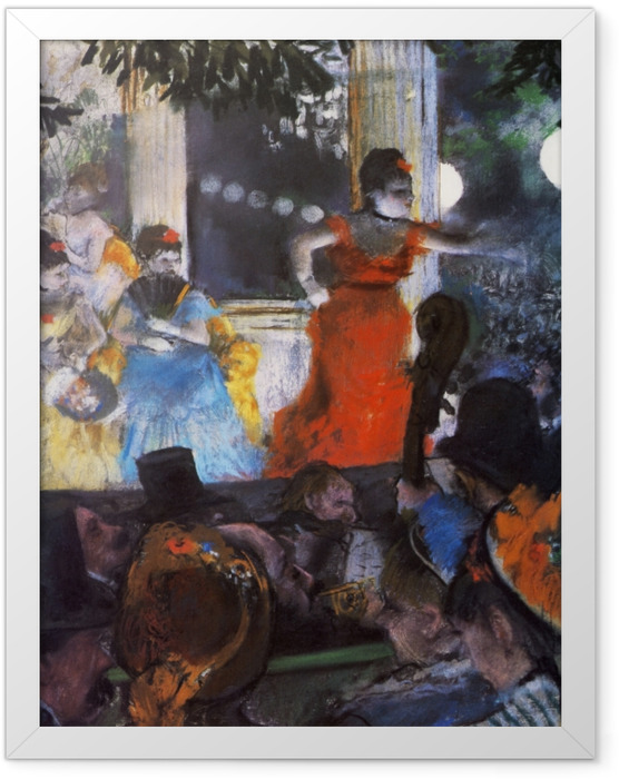 Gerahmtes Poster Edgar Degas - Im Konzertcafé Les Ambassadeurs - Reproduktion