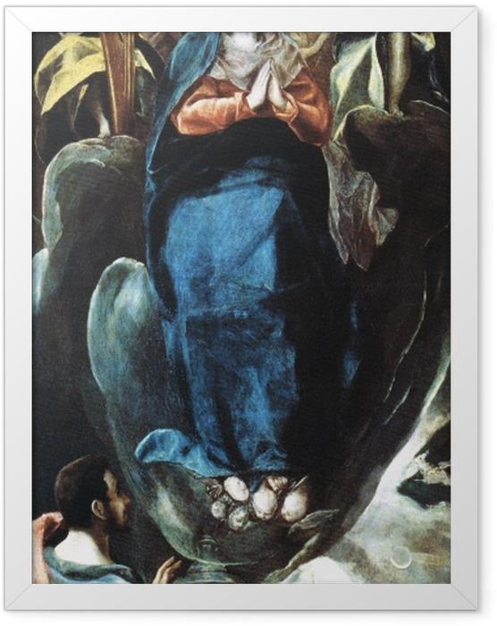 Gerahmtes Poster El Greco - Inmaculada Concepción (Unbefleckte Empfängnis) - Reproduktion