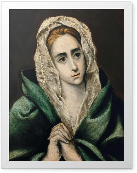 Plakat w ramie El Greco - Mater Dolorosa - Reprodukcje