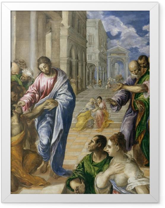 Plakat w ramie El Greco - Chrystus uzdrawiający ślepca - Reprodukcje