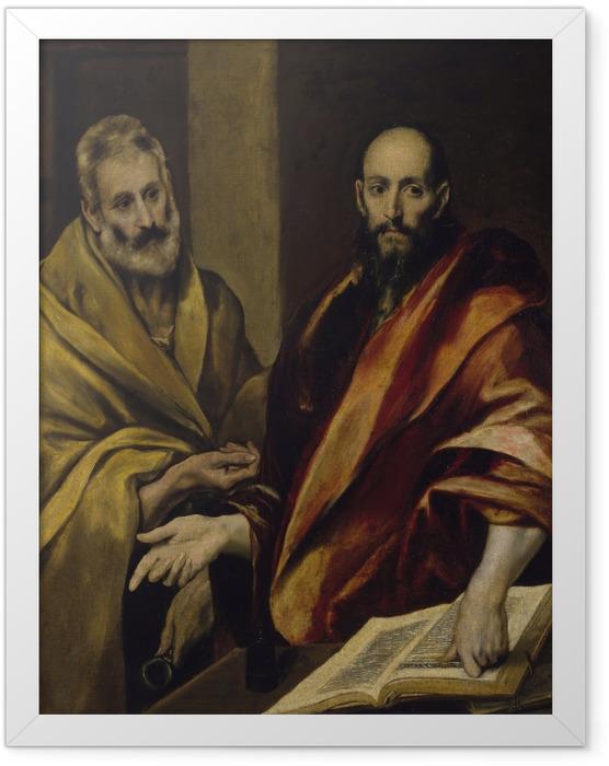 Gerahmtes Poster El Greco - Petrus und Paulus - Reproduktion
