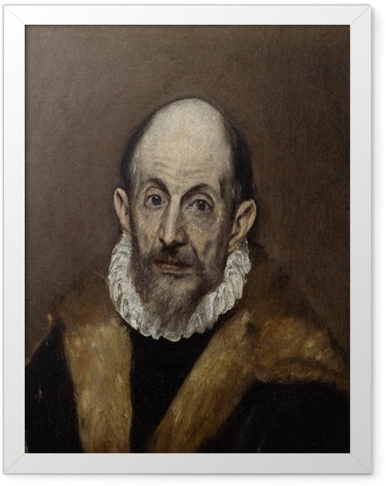Poster en cadre Le Greco - Portrait d'un homme - Reproductions
