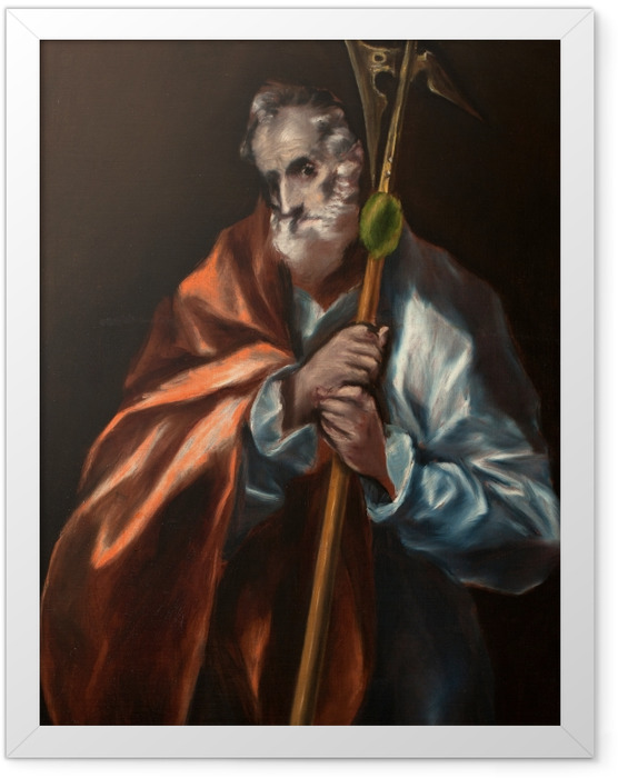 Gerahmtes Poster El Greco - Der heilige Judas Thaddäus - Reproduktion