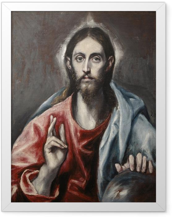 Plakat w ramie El Greco - Chrystus jako Zbawca - Reprodukcje