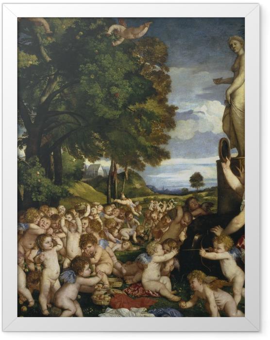 Plakat w ramie Tycjan - Kult Wenus - Reprodukcje