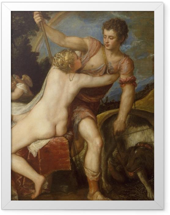 Poster en cadre Titien - Vénus et Adonis - Reproductions