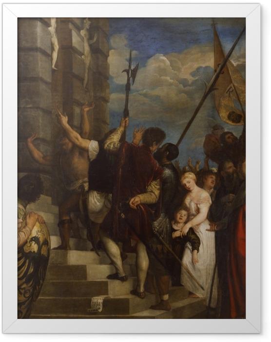 Gerahmtes Poster Tizian - Ecce Homo - Reproduktion