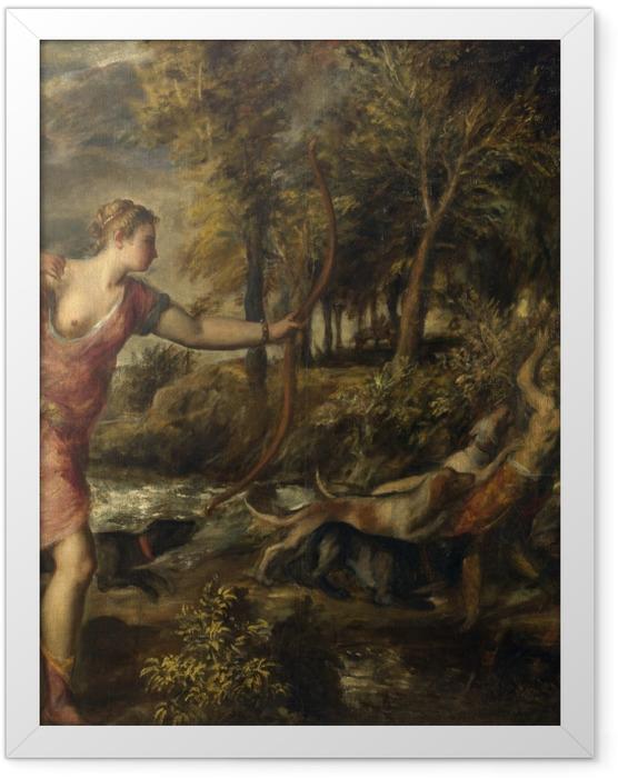 Poster en cadre Titien - La mort d'Actéon - Reproductions