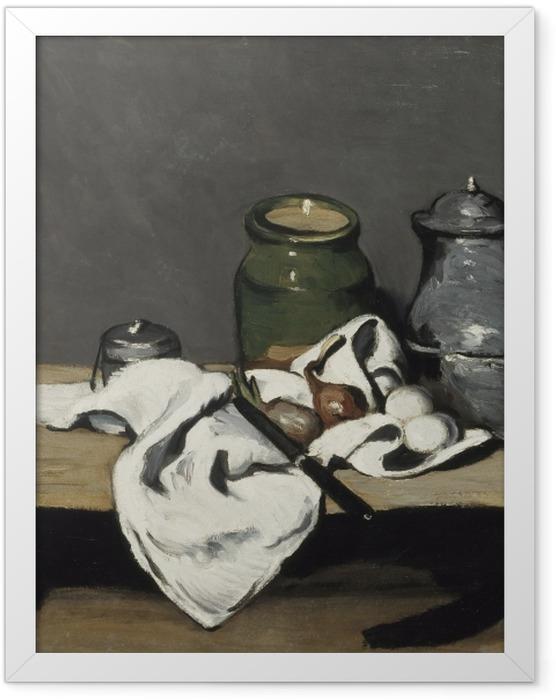 Plakat w ramie Paul Cézanne - Martwa natura z dzbanem - Reprodukcje