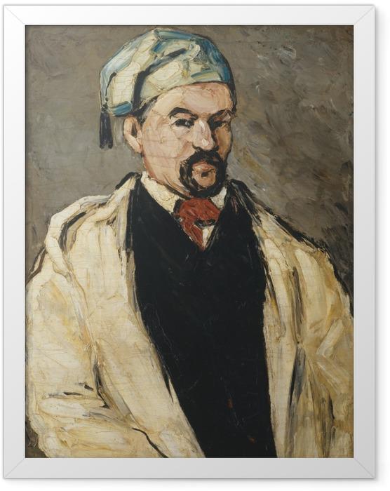 Gerahmtes Poster Paul Cézanne - Der Mann mit der blauen Mütze (Porträt des Onkels Dominique) - Reproduktion