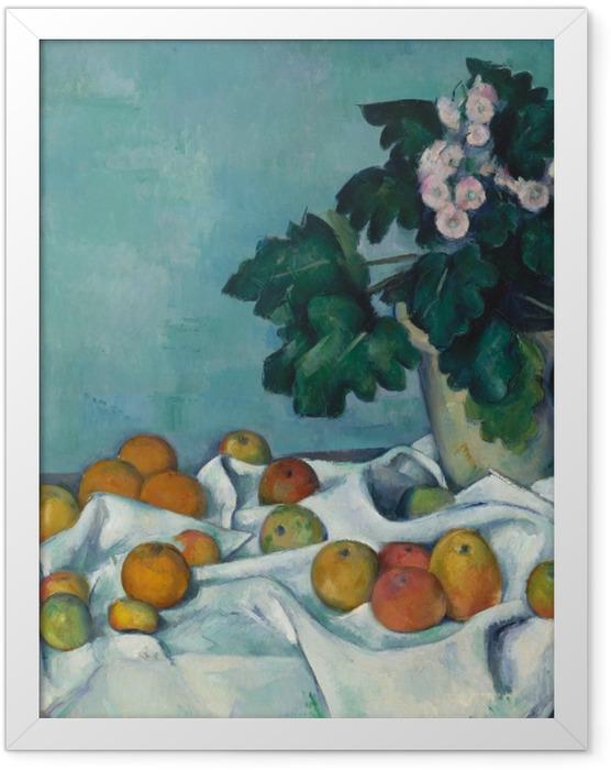 Plakat w ramie Paul Cézanne - Owoce na stole - Reprodukcje