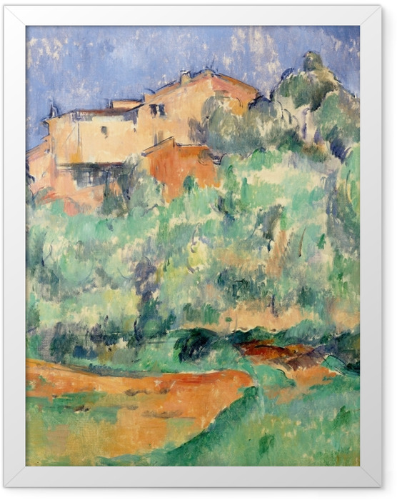 Plakat w ramie Paul Cézanne - Dom w Bellevue - Reprodukcje