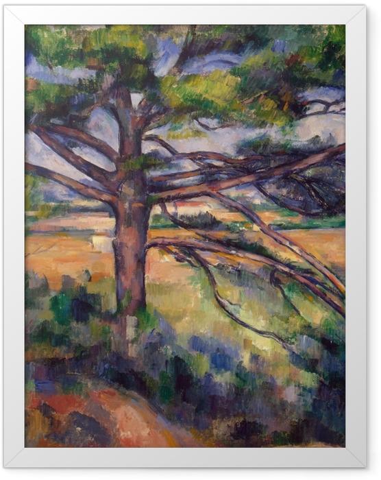 Poster en cadre Paul Cézanne - Le grand Pin - Reproductions
