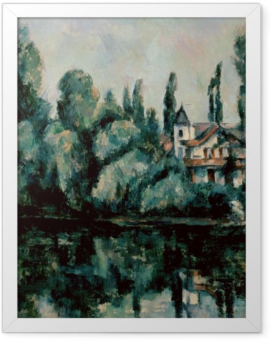 Plakat w ramie Paul Cézanne - Nad brzegiem Marny - Reprodukcje
