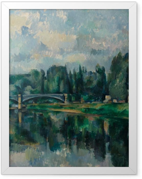 Plakat w ramie Paul Cézanne - Brzegi Marny nieopodal Creteil - Reprodukcje