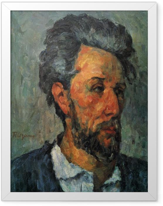 Gerahmtes Poster Paul Cézanne - Porträt des Victor Chocquet - Reproduktion