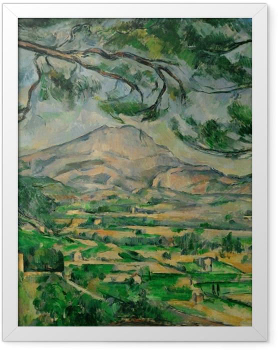 Poster en cadre Paul Cézanne - Montagne Sainte-Victoire - Reproductions