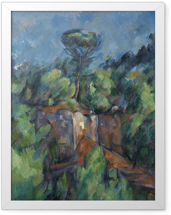Poster en cadre Paul Cézanne - La carrière de Bibémus - Reproductions