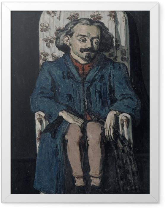 Gerahmtes Poster Paul Cézanne - Achille Emperaire (Porträt) - Reproduktion