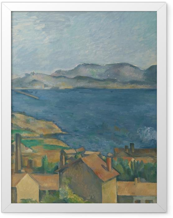 Plakat w ramie Paul Cézanne - Zatoka Marsylijska widziana z Estaque - Reprodukcje
