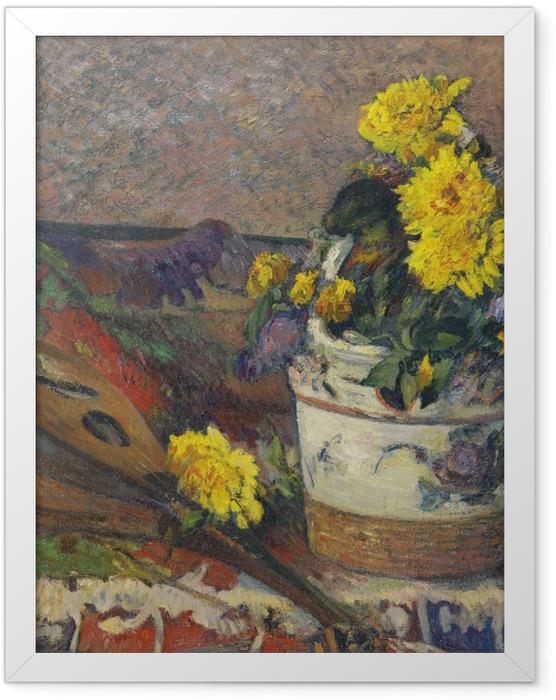Poster en cadre Paul Gauguin - Nature morte à la mandoline - Reproductions