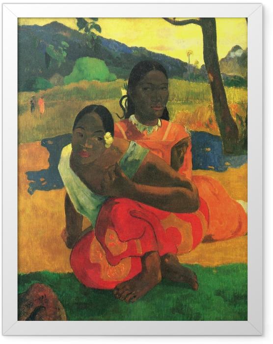 Plakat w ramie Paul Gauguin - Na Fe Faaipoipo (Kiedy mnie poślubisz?) - Reprodukcje
