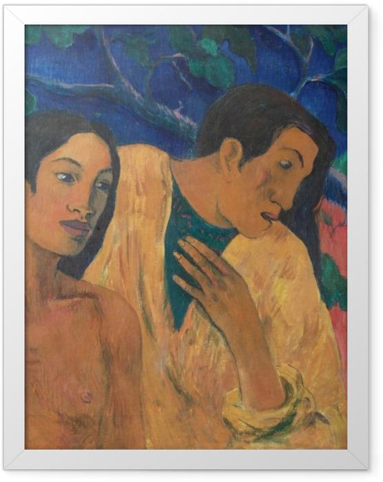 Gerahmtes Poster Paul Gauguin - Flight (Tahiti Idyll) - Reproduktion