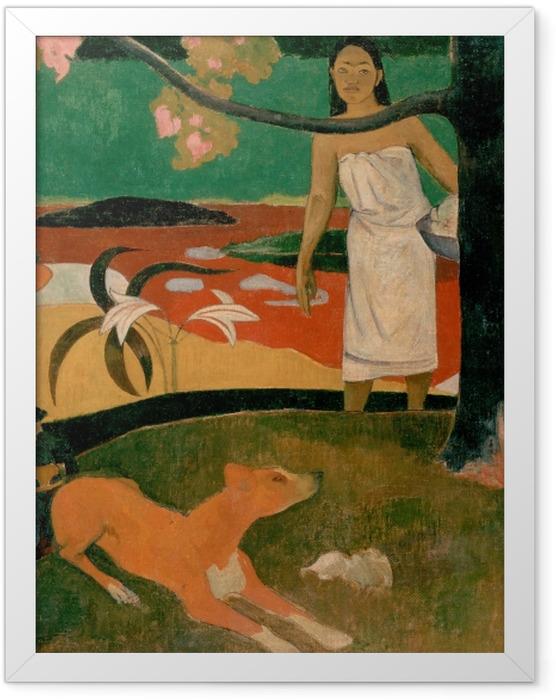 Gerahmtes Poster Paul Gauguin - Tahitische Hirtenlieder - Reproduktion