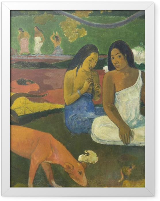 Gerahmtes Poster Paul Gauguin - Arearea - Reproduktion