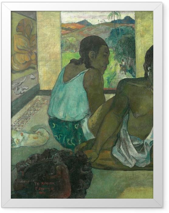 Poster en cadre Paul Gauguin - Te rerioa (le rêve) - Reproductions