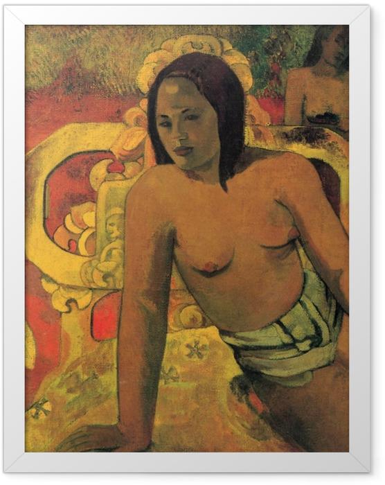 Gerahmtes Poster Paul Gauguin - Vairumati - Reproduktion