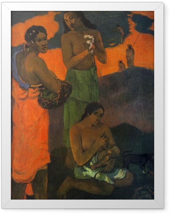 Poster en cadre Paul Gauguin - Maternité - Reproductions