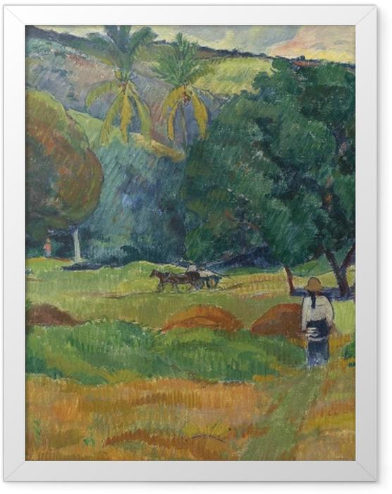 Plakat w ramie Paul Gauguin - Dolina - Reprodukcje