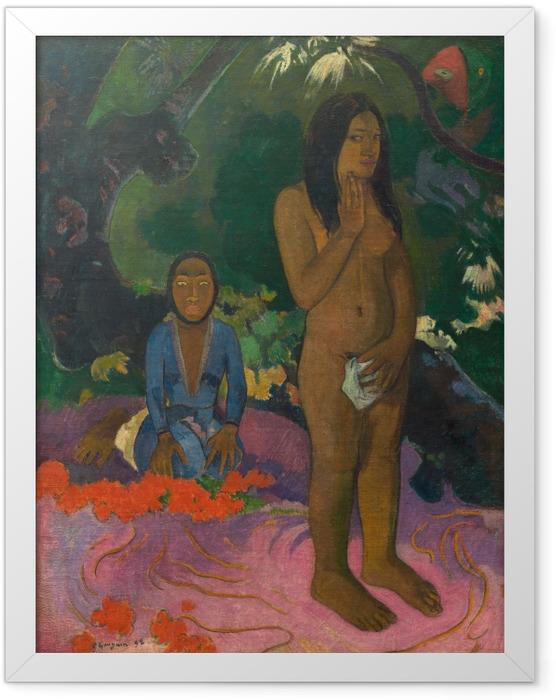 Gerahmtes Poster Paul Gauguin - Parau na te Varua Ino (Worte des Teufels) - Reproduktion