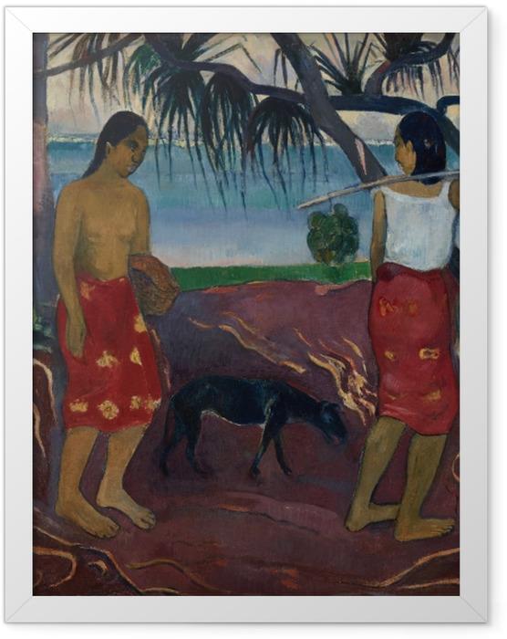 Plakat w ramie Paul Gauguin - I raro te oviri (Pod pandanem) - Reprodukcje