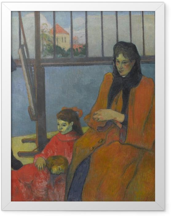 Gerahmtes Poster Paul Gauguin - Die Familie Schuffenecker - Reproduktion