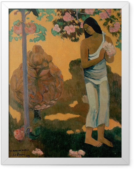 Gerahmtes Poster Paul Gauguin - Te avae no Maria (Der Marienmonat) - Reproduktion