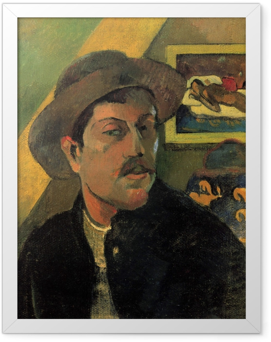 Poster en cadre Paul Gauguin - Portrait de l'artiste - Reproductions