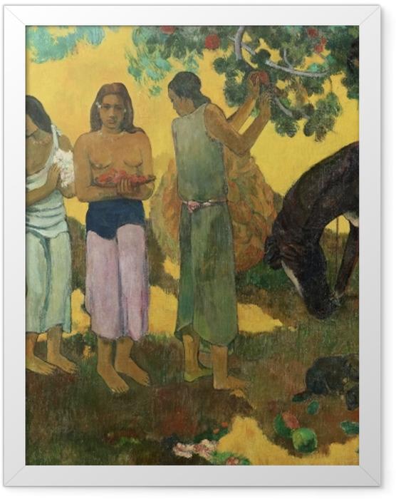 Plakat w ramie Paul Gauguin - Rupe rupe (Zbiór owoców) - Reprodukcje